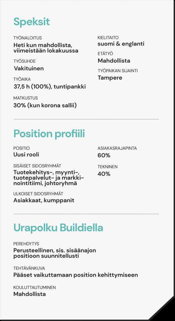Product Owner - Speksit - Buildie